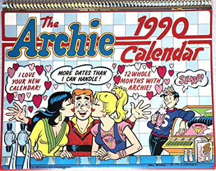 1990 Calendar.Amazon Com The Archie Gang 1990 Wall Calendar Correct Dates Again