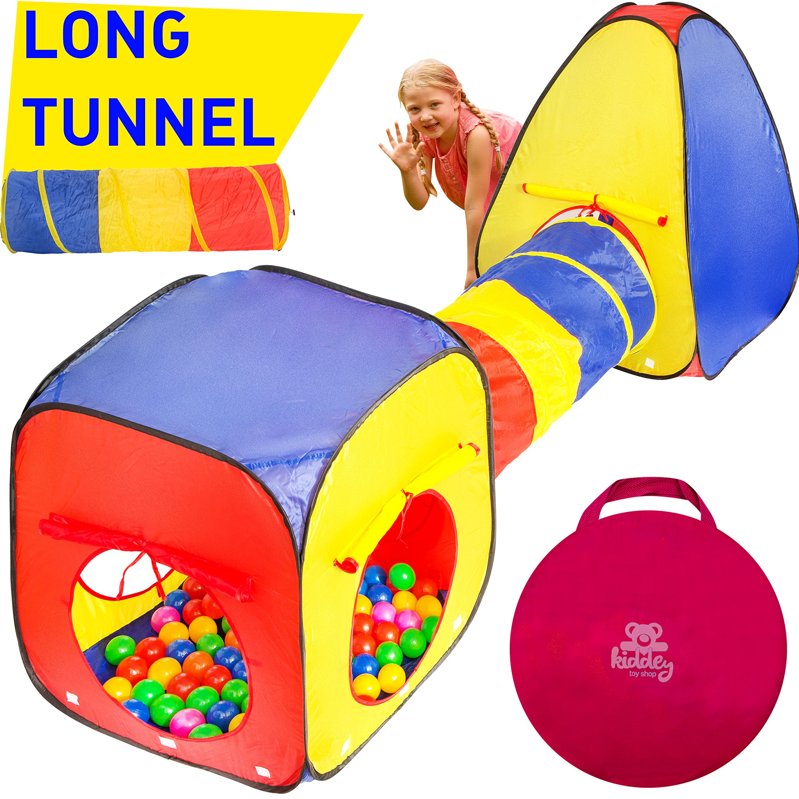Kiddey 3pc Kids Play Tent Crawl Tunnel and Ball Pit Set u2013 Durable Pop Up Playhouse  sc 1 st  Amazon.com & Best Rated in Kidsu0027 Play Tents u0026 Tunnels u0026 Helpful Customer ...
