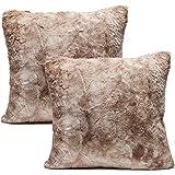 Chanasya Super Soft Fuzzy Faux Fur Cozy Warm Fluffy Beige Fur Throw Pillow Cover Pillow Sham - Beige Brown Pillow Sham…