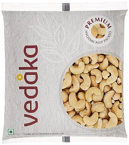 Amazon Brand - Vedaka Premium Roasted and Salted Cashews, 100g