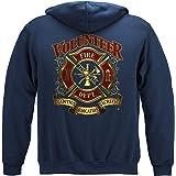 Firefighter Hooded Sweat Shirt Volunteer Fire Tradion Sa FF2085SW
