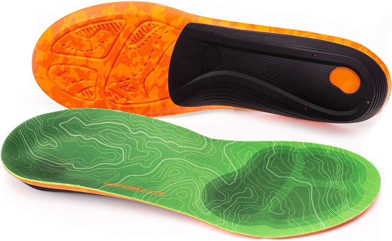 Superfeet TRAILBLAZER Comfort, Plantillas/Ortopédicas para Hombre, Verde (Pine), 42-44 EU, verde (pine)
