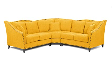 Perfect Loni M. Designs Alexandria Sectional Sofa, Mustard Pictures