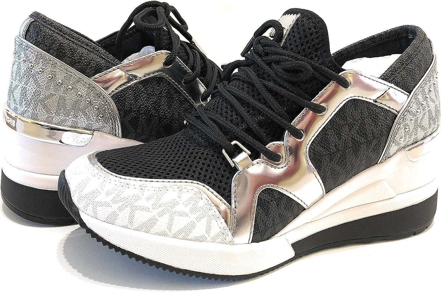 Vulgarity etiquette Seminar  Amazon.com | Michael Michael Kors Women's Liv Trainer Mini MK Logo,  Blk/Silver (6) | Fashion Sneakers