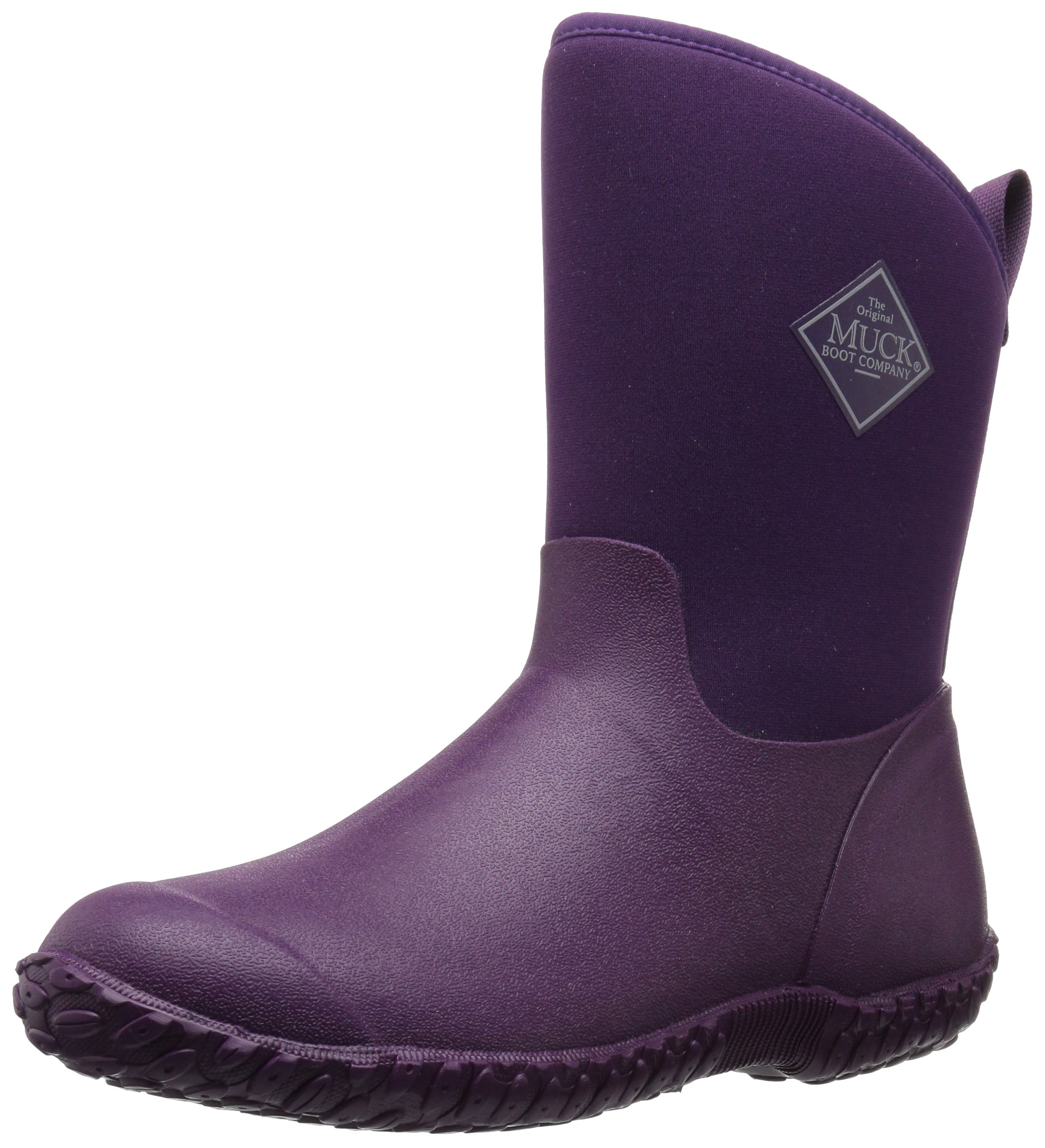 Muck Boot Women's Muckster 2 Mid Snow Boot, Purple With Floral Print Lining, 8 B US