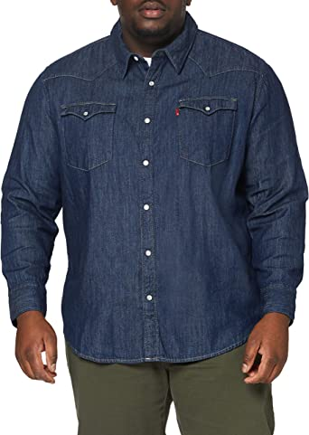 Levis Big and Tall Big Barstow Western Shirt para Hombre