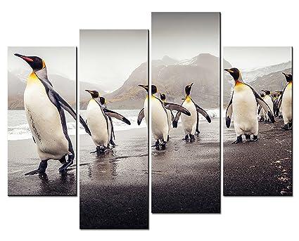 Amazon.com: SmartWallArt - Animal Paintings Wall Art Some Penguins ...