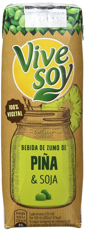 Vivesoy Piña Y Soja Caja De 7 Packs 3X250 Ml: Amazon.es: Alimentación y bebidas