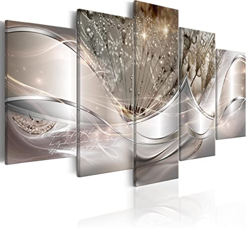 Quadro moderno cm 100x50 Quadri Moderni Stampa su tela XXL Astratto Fiori Cucina