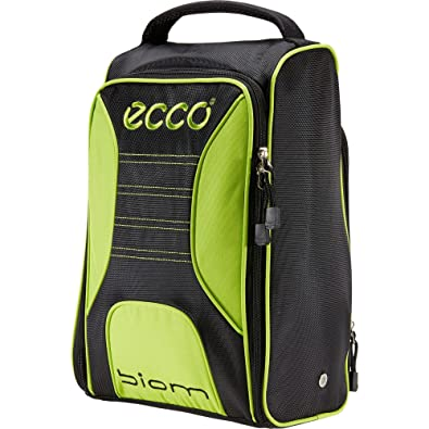 38a50f70f68c Ecco Golf 2016 Performance Ventilated Golf Travel Shoe Bag Tote Black Lime  Punch
