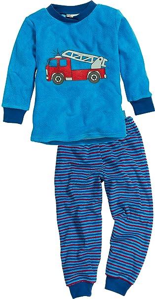 Playshoes Terry Cloth Fire Brigade-Pijama Niñas azul Azul (Original) 12-18