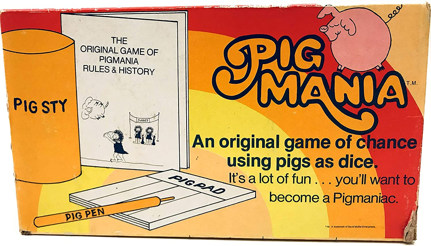 Pig Mania: An original game of chance using pigs as dice (1977) by ...