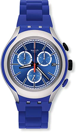 Swatch YYS4017AG Irony Xlite Blue Attack Mens Watch