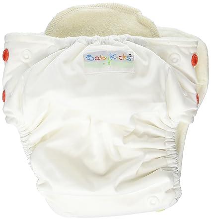 BabyKicks 794504456226 Basic - Pañal de tela (cierre de corchetes, 3-18 kg
