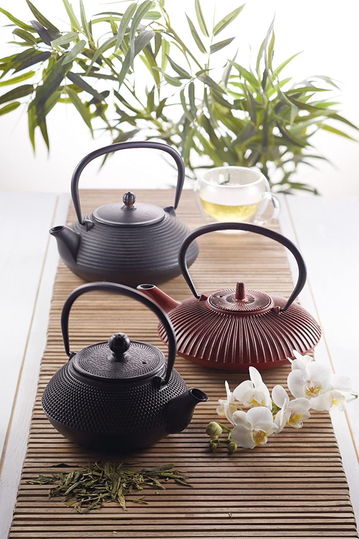 3/tazas Kitchencraft Le Xpress japanese-style Infusor de hierro fundido tetera color negro 600/ml
