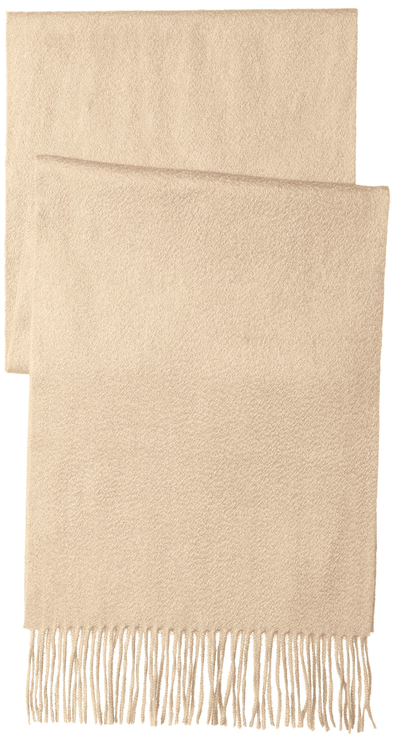 Sofia Cashmere Women's 100% Cashmere Woven Scarf with Fringe, Natural One by Sofia Cashmere (Image #2)