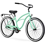 "sixthreezero Around The Block Women's Single-Speed Beach Cruiser Bicycle, 26"" Wheels, Mint Green with Black Seat and…"