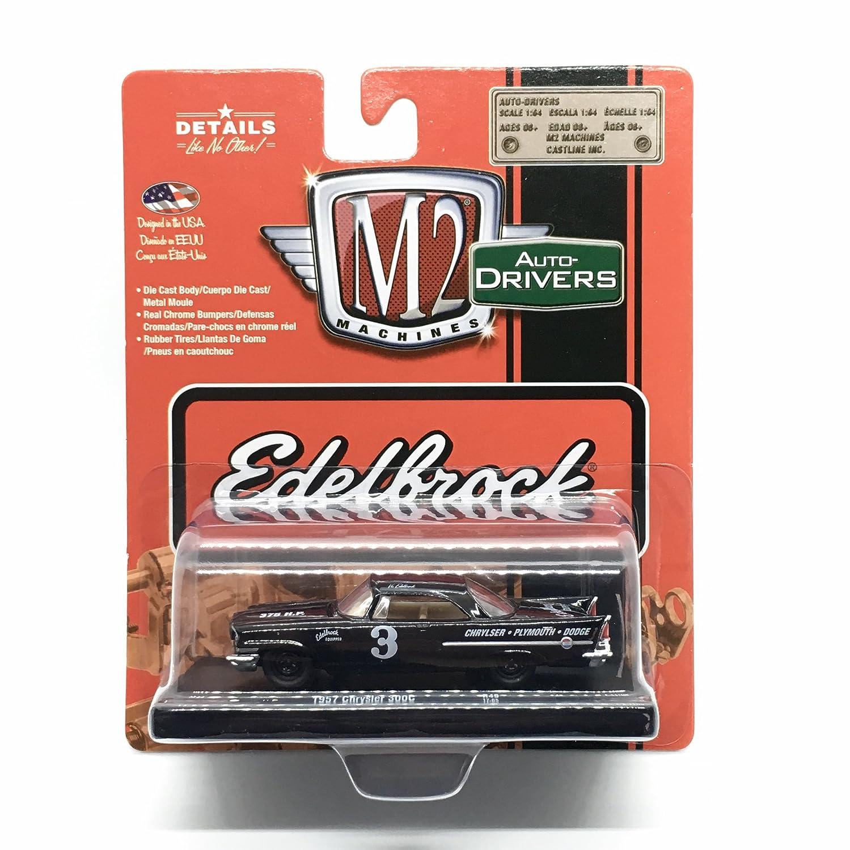 Amazon.com: M2 Machines 1957 Chrysler 300C (Edelbrock) Gloss Black Auto-Drivers Release 49 Castline 2017 Special Edition 1:64 Scale Die-Cast Vehicle (R49 ...