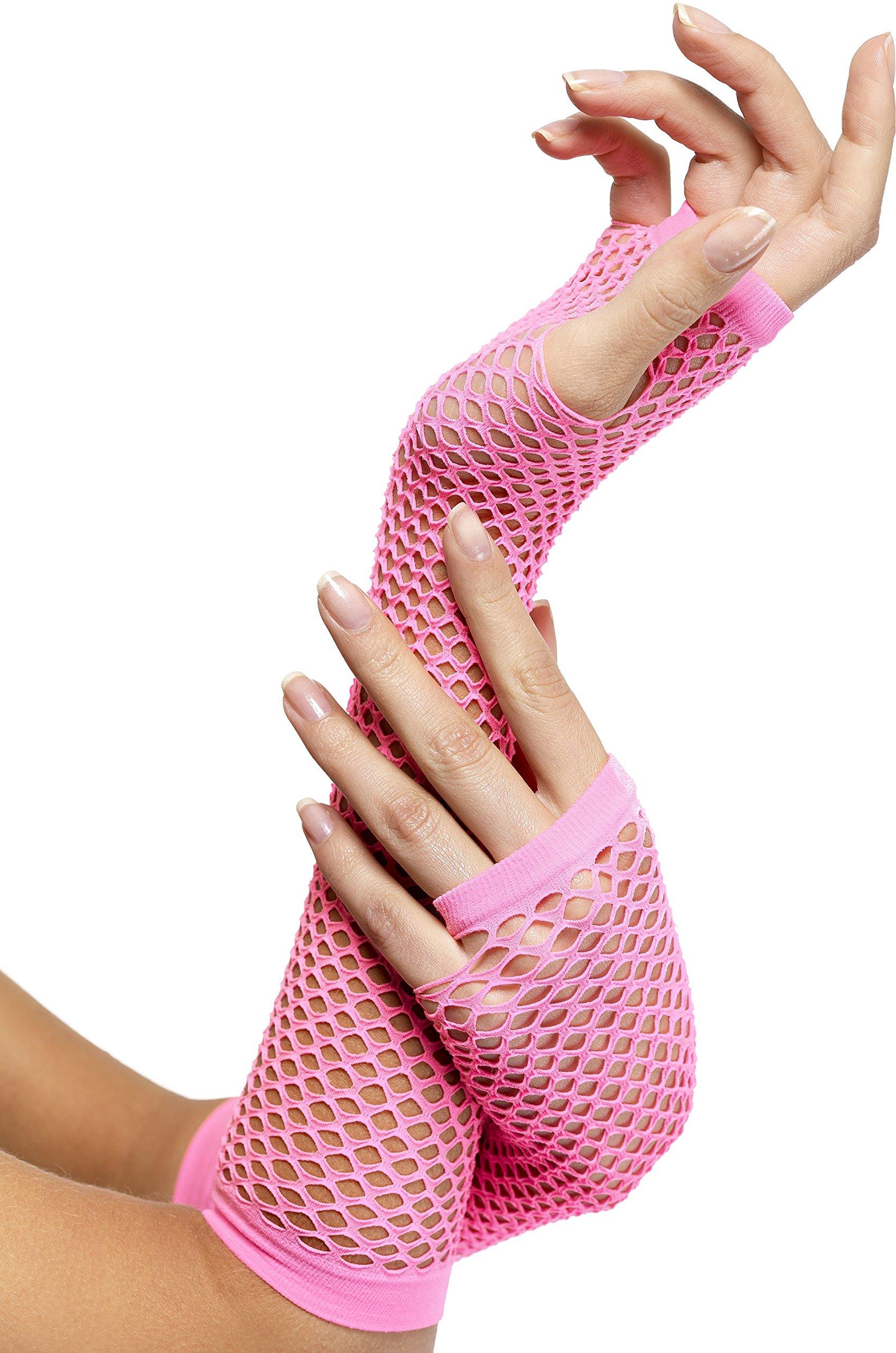Seeksmile 80s Party Accessory Net Fingerless Fishnet Gloves
