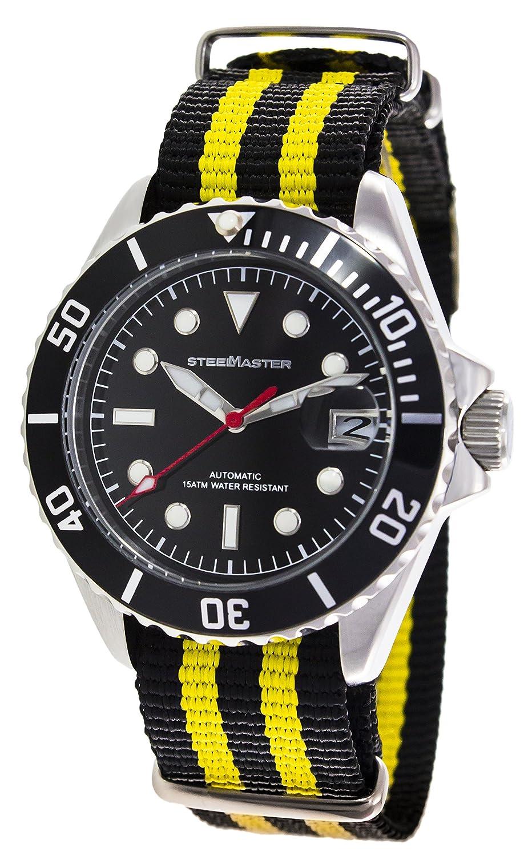 Steel Master Herren-Armbanduhr Automatik Analog Nylon - DW13004