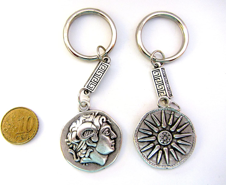 Sterling Silver Keychain Vergina Star