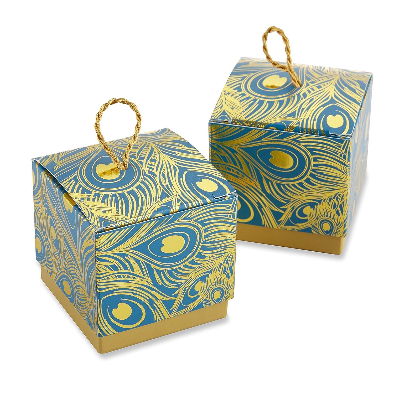 Kate Aspen Peacock Foil Favor Box (set of 24) 28236NA