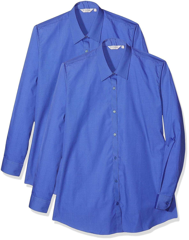 Trutex LCB, Camicia Bambina, Blu (Enterprise Blu), Pacco da 2