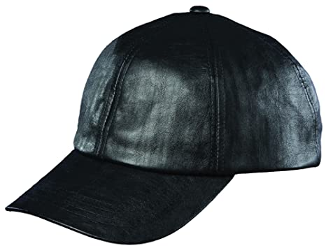 61bb1b7a21f Image Unavailable. Image not available for. Color  DORFMAN PACIFIC FAUX  LEATHER BASEBALL CAP