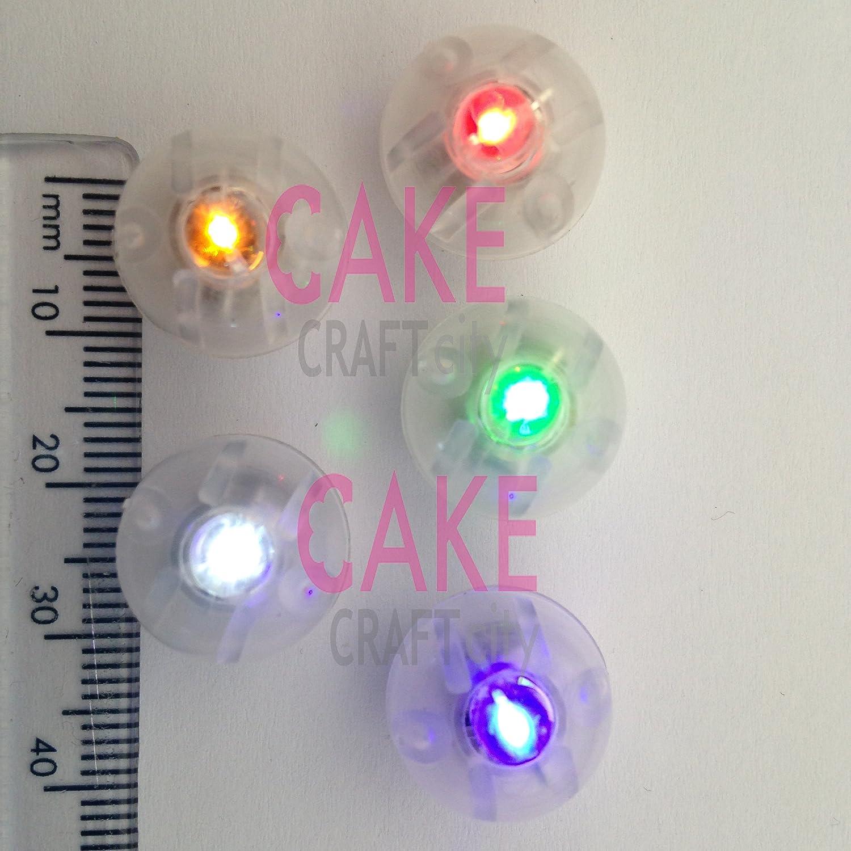Rot MINI LED Batteriebetrieben (keine Kabel) 5 Stück, perfekt für ...