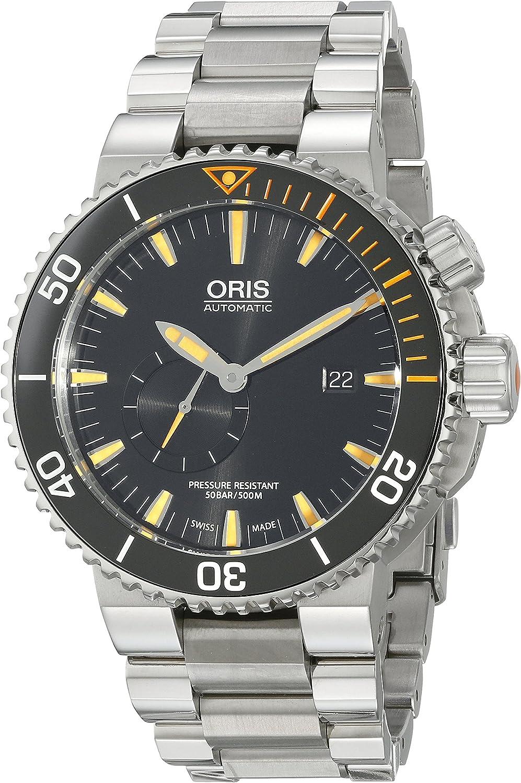 Oris Men s 74377097184MB Analog Display Swiss Automatic Silver Watch