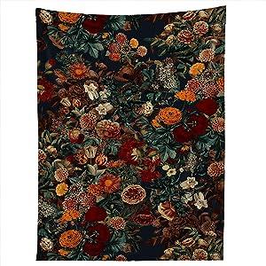 "Society6 70787-tapsma Burcu Korkmazyurek Exotic Garden - Night XXI Tapestry, 50"" X 60"", multi"