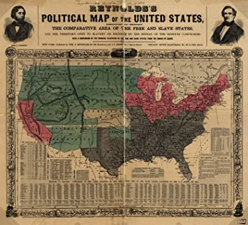 map poster reynolds s political map of the united states designed to exhibit the comparative area