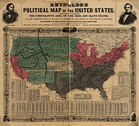 Amazon.com: Map Poster - Reynolds\'s political map of the United ...