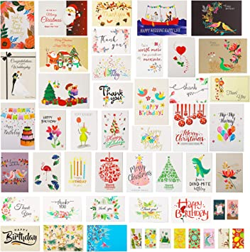 "HOLIDAY STYLE* 10pcs 6/"" x 4/"" CHRISTMAS CARDS+ENVELOPES Boxed *YOU CHOOSE* New!"