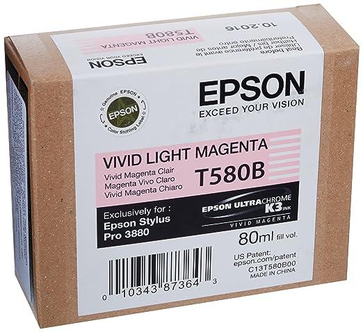 2 opinioni per Epson C13T580B00 Cartuccia Inkjet Ink Pigmentato Ultrachrome K3 T580B, Magenta