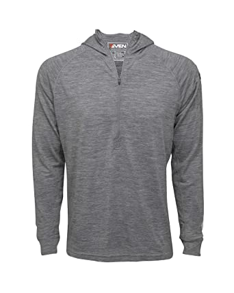 7EVEN Clothing Men s Merino Wool Hoodie - Mid-Weight 230 GSM - Wicking  Breathable Anti dfd8ea5cb