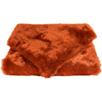 """Vardhman Fur Cloth Medium Size 38"""" x34"""", 2cms Hair Length, Brown Used for Dresses, Soft Toys Making Jackets"""