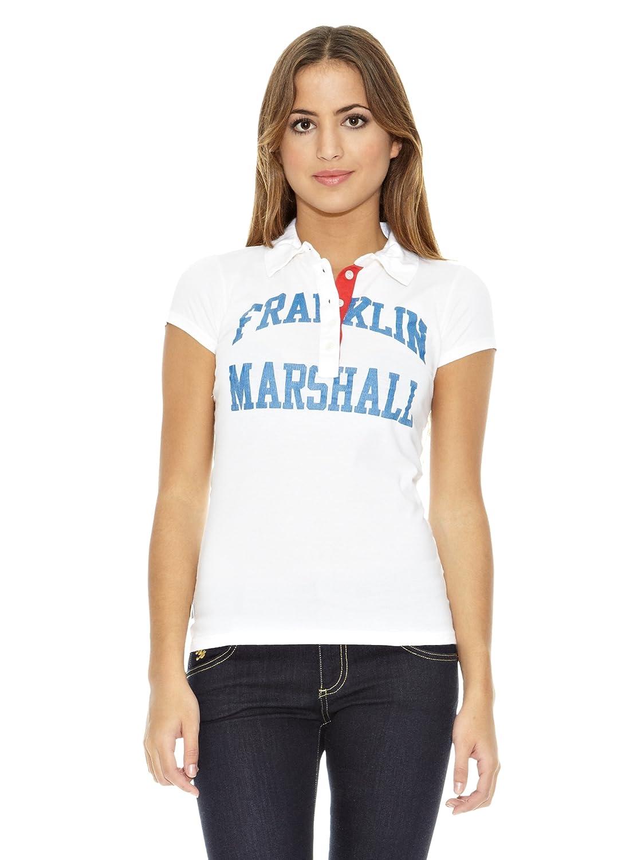 Franklin & Marshall Polo Indian River Manga Corta Blanco S: Amazon ...