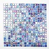 Fliesen Mosaik Mosaikfliese Glas glänzend Küche Bad WC Boden 4mm Neu #K672