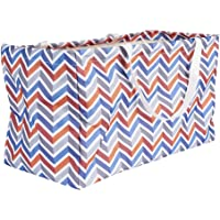 Household Essentials 2216 Krush Canvas Utility Tote | Reusable Grocery Shopping Bag | Laundry Carry Bag Chevron
