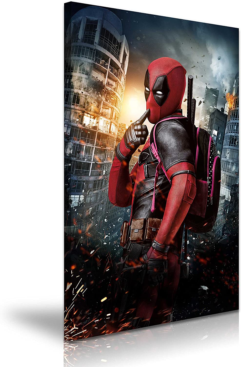 Deadpool Superhero Poster Movie Greats SINGLE CANVAS WALL ART Picture Print