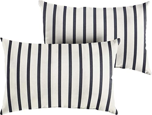Mozaic Company AMZ956501SP Sunbrella Lido Indigo Outdoor Pillow Set