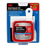 3M Patch Plus Primer Kit with 8 fl. oz Patch Plus Primer, Self-Adhesive Patch, Putty Knife and Sanding Pad