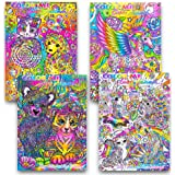 Lisa Frank Adult Coloring Book Set 4 Premium And Activity Books