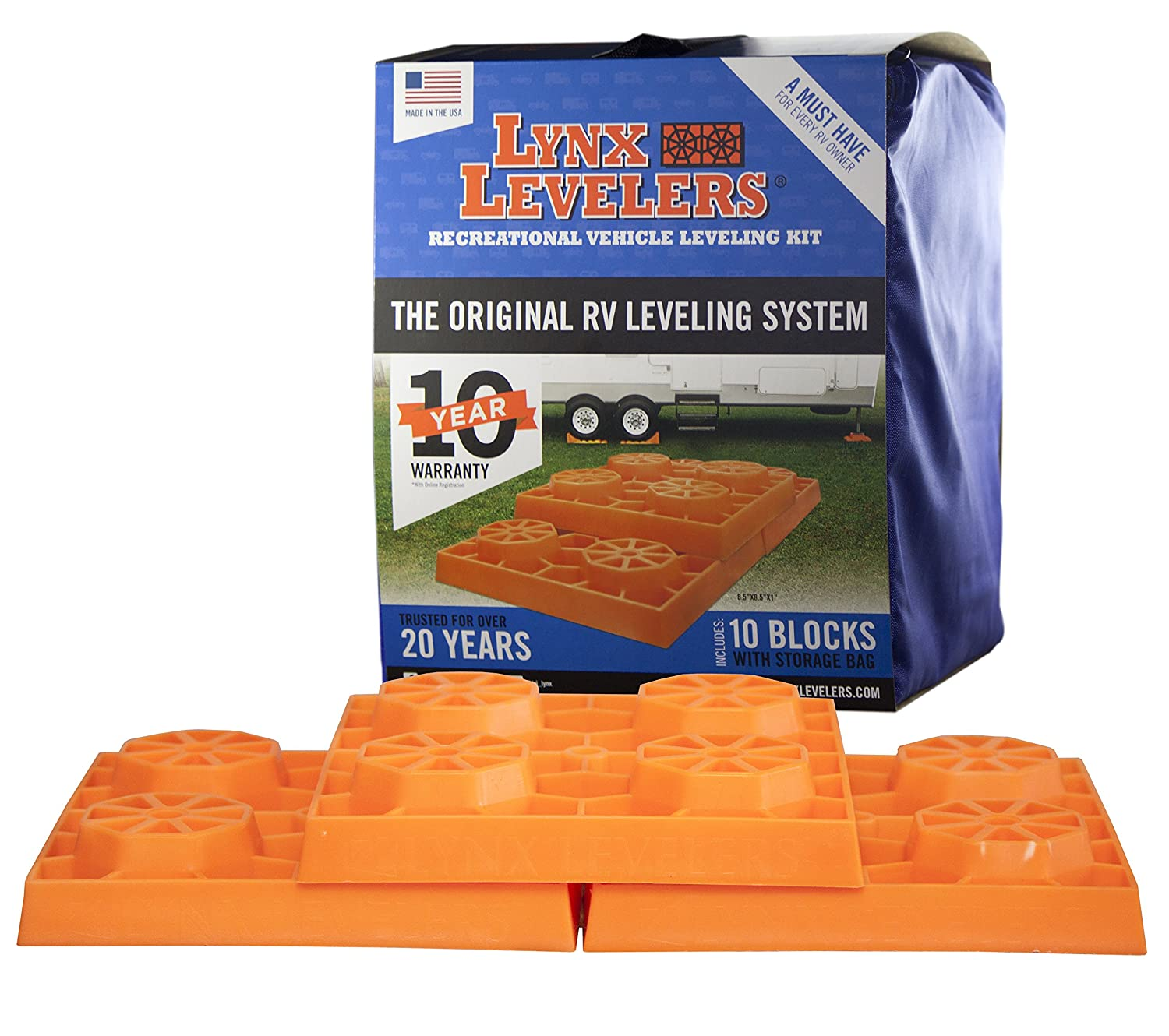 Tri-Lynx 00016 Lynx Leveler for RV Leveling Block, Pack of 4 LynxLevelers