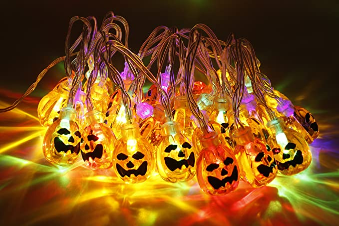 Zucca luci di stringa led metro halloween jack o lantern