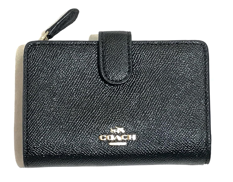 COACH (コーチ) 財布 ミディアム コーナー ジップ ウォレット 二つ折り財布 F11484 IMBLK [アウトレット] [並行輸入品] B076HNNXRN