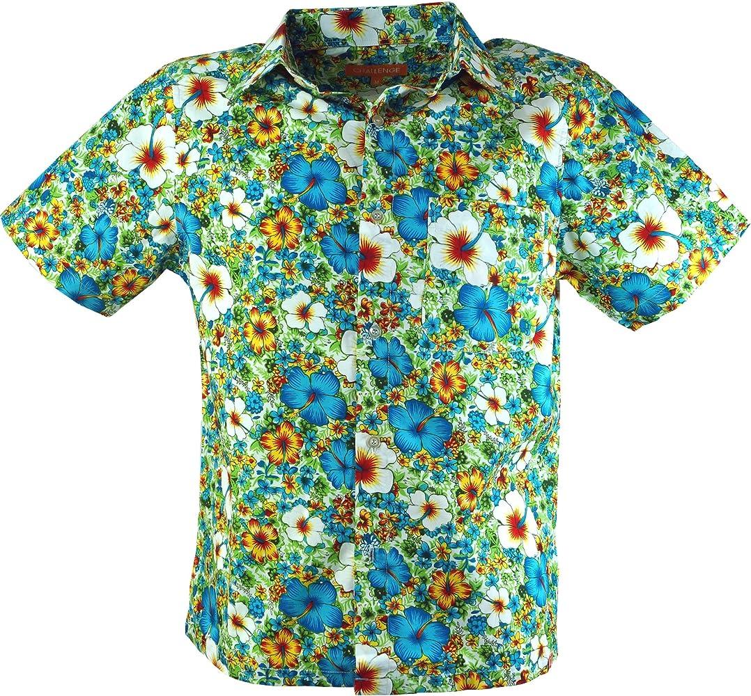 GURU-SHOP Hippie Camisa, La Camisa Hawaiana, Azul, Algodón, Tamaño:M, Camisas de Hombre: Amazon.es: Ropa y accesorios