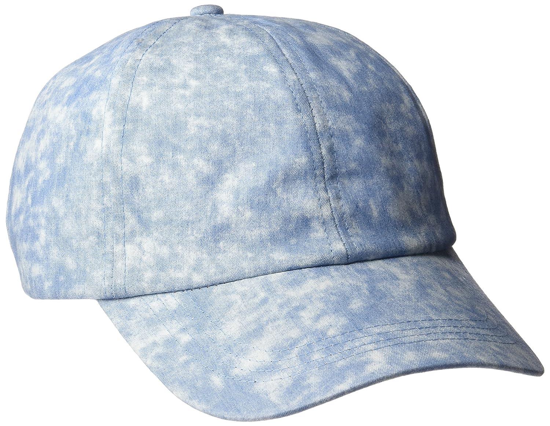 D&Y Women's Acid Washed Denim Baseball Cap Blue One Size d&y Women' s Accessories ACAP13989