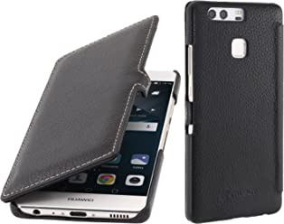 StilGut Book Type, Housse en Cuir avec Clip pour Huawei P9, en Noir